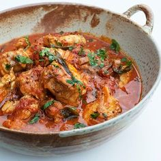 Monkfish Curry - Care - Skin care , beauty ideas and skin care tips Curry Recipes, Meat Recipes, Seafood Recipes, Indian Food Recipes, Asian Recipes, Cooking Recipes, Healthy Recipes, Cooking Ideas, Monkfish Curry