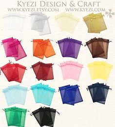 """4""""x6"""" Sheer Drawstring Organza Bags Jewelry Pouches Wedding Party Favor Gift Bag... 10.99 for 100 pcs"""