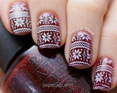 """Yourself a Christmas-Inspired Manicure Using These Festive and Bright Nail Art Designs """"Ugly"""" Christmas Sweater - """"Ugly"""" Christmas Sweater - Christmas Gel Nails, Holiday Nail Art, Christmas Nail Art Designs, Christmas Glitter, Gel Nail Art, Easy Nail Art, Nail Polish, Bright Nail Art, Sweater Nails"""