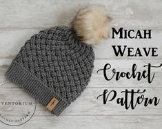 "CROCHET PATTERN ""Brooklynn Cables Beanie"" bulky yarn crochet pattern, chunky cables, beanie, hat, Cable stitches English Language Only Pattern Baby, Baby Patterns, Bolero Pattern, Crochet Cable, Crochet Yarn, Crochet Gifts, Crochet Stitches, Crochet Beanie Pattern, Crochet Patterns"