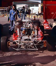F1 1974. Niki Lauda´s Ferrari 312B3 British GP.