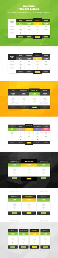 Pricing Tables Template PSD. Download here: http://graphicriver.net/item/pricing-tables/9838737?ref=ksioks