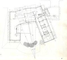 Planta de la casa de la lluvia, juan navarro. Arquitectura. Dibujos. Plantas. Vivienda unifamiliar. Viviendas. Juan Navarro Baldeweg