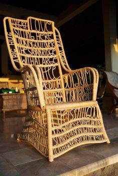 Sagmeister design - details through link  Talkative Chair
