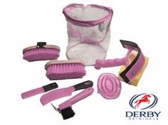 Buy Portable Equine Grooming Tools Kit Horse Care Bag 7 Pieces Pink NEW at online store Horse Grooming Supplies, Grooming Kit, Pet Supplies, Horse Gifts, Gifts For Horse Lovers, Horse Care, Pink Grey, Derby, Pony
