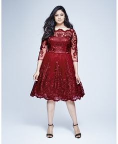 """Chi Chi"" Chi Chi Lace Midi Prom Dress at Simply Be"