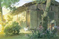 Art by 男鹿 和雄 Kazuo Oga* - Background Art | © Studio Ghibli: