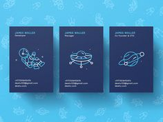 """Deetu Business Cards """"Hi dribbblers! New shot is ready to be introduced and this time it features cosmic theme. Here we present you the set of business cards designed in terms of branding project for Deetu, the team dealing with app and game development..."""" #dribbble"""