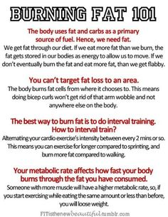 burning fat 101