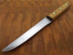 vintage Forged Carbon Steel RAZOR SHARP Russell Green River Stiff Boning Knife