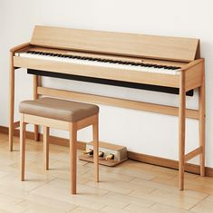 The Roland Kiyola Piano is a minimally designed digital version of a piano sold exclusively through the MoMA Design Store.
