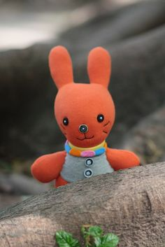 Handmade stuffed animal toys Bunny little girl gift by hellykary, $11.90