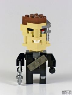 Pop culture icons in Lego by Cube Dude : T800
