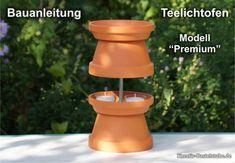 "Teelichtofen ""Premium All-Inclusive"" – Holz Life Hacks, All Inclusive, Diy And Crafts, Planter Pots, Mini, Outdoor Decor, Inspiration, Grill, Vw Bus"