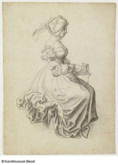 Niklaus Manuel gen. Deutsch Bern um 1484–1530 Bern Sitzende Frau mit Geldbeutel, 1514–1516