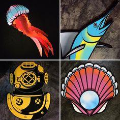 @projetopapelao 👇🏾👇🏾👇🏾👇🏾👇🏾 Esses quatro trabalhos da ultima série que produzi estão disponíveis para venda por preços promocionais aqui no @truelovetattoosp 📞 11-20943383 ❤️❤️❤️❤️❤️❤️ - assistente @komova_gonzaguinha - #cardboard #cardboardart #art #jellyfish #bluemarlin #marlin #shell #pearl #escafandro #divingdress #arte #sustentabilidade #handmade #papelão #ocean #mar #projetopapelao