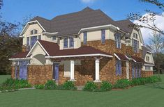 New American House Plan with 3484 Square Feet and 4 Bedrooms(s) from Dream Home Source | House Plan Code DHSW74319