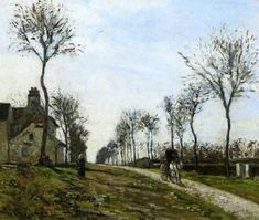 Road to Louveciennes - Camille Pissarro - The Athenaeum