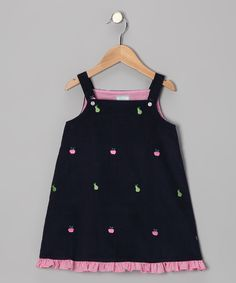 Take a look at this Navy Apple & Pear Ruffle Jumper - Infant, Toddler & Girls on zulily today! Little Girl Dresses, Little Girls, Girls Dresses, Summer Dresses, Infant Toddler, Toddler Girls, Infant Girls, Apple Pear, Jumper