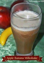 Apple Banana Milkshake – A healthy, easy and tasty milkshake made with apple and banana.
