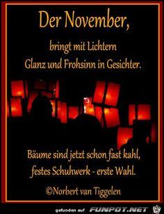 Herzlich willkommen im November! :)