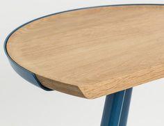Wood in metal frame