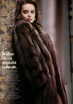 Fisher, Furs, Fur Coat, Poses, Elegant, Sexy, Fashion, Figure Poses, Classy