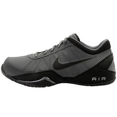 28fb8ce43adbfa Nike Air Ring Leader Low Mens 488102-002 Grey Black Basketball Shoes Size  10.5