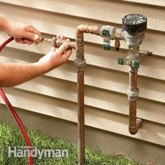 How to Winterize a Sprinkler System. Save big bucks by blowing out the sprinkler system yourself. #prepareforwinter #winterize #gardengoodies #sprinklersystem #winter #sprinklers  http://www.familyhandyman.com/landscaping/how-to-winterize-a-sprinkler-system/view-all  http://www.familyhandyman.com/landscaping/how-to-winterize-a-sprinkler-system/view-all #gardeningtips #savemoney