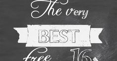 We Lived Happily Ever After: The Very Best 16 Free Chalk Fonts