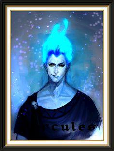 Disney Villain Art ~ mark could be Hades....just blue flame hair?
