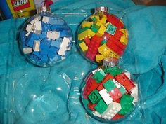 DIY LEGO Christmas ornaments