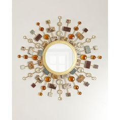 Shop Gemstone Sunburst Mirror from Janice Minor at Horchow, where you'll find new lower shipping on hundreds of home furnishings and gifts. Mirror Crafts, Home Decor Mirrors, Wall Mirrors, Floor Mirrors, Wall Decor, Sun Mirror, Sunburst Mirror, Dressing Mirror, Paper Stars