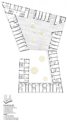 Image 7 of 16 from gallery of Social Housing in Milan / StudioWOK. second level plan Social Housing Architecture, Co Housing, Concept Architecture, Architecture Design, Milan, Hotel Floor Plan, Floor Plan Layout, Plan Drawing, Ground Floor Plan