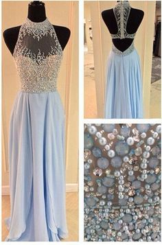 Sexy A-line Long Light Blue Chiffon Prom Dress sold by dreamdressy. Shop more products from dreamdressy on Storenvy, the home of independent small businesses all over the world.