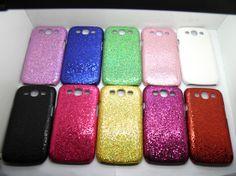 shinny powder 10 color phone case for Samsung