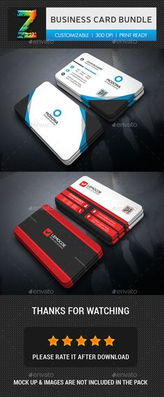 Business Card Template PSD Bundle
