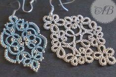 Tatting Necklace, Tatting Jewelry, Lace Jewelry, Tatting Lace, Tatting Patterns, Crochet Earrings, Beads, Design, Decor