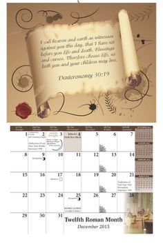 The House of Yahweh 2014 Calendar available here for free download.