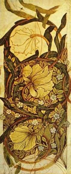 'Pimpernel' Wallpaper by William Morris 1876 (via Julia Kamo, Fibonacci and Co.)