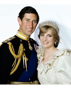 Charles and Diana's formal wedding portrait, taken after the ceremony at Buckingham Palace on July 29, 1981. Diana was the first British citizen to marry an heir to the British throne in over 300 years.