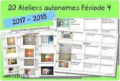 20 ateliers autonomes individuels GS période 4 2017 2018 | Zaubette | Bloglovin' Grande Section, Ms Gs, School, Chenille, Voici, Mandala, Films, Action, Food