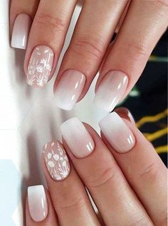 37 perfect ombre nail design to upgrade your style summer nail designs Square Nail Designs, Ombre Nail Designs, Nail Art Designs, Ombre Nail Art, White Nail Designs, Pink Nails, Gel Nails, Nail Polishes, Coffin Nails