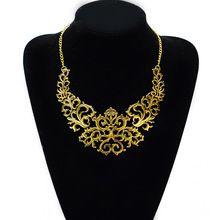 Summer Style Gold Sliver plated Hollow Flower Collar Choke Chain Neon Bib Statement Necklace collar babero gargantilla For Women(China (Mainland))
