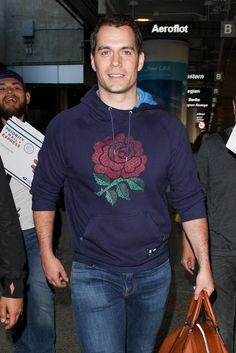 Henry Cavill News: Henry & Tara At Heathrow Airport In London, LAX Arrival