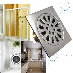 Bathroom Organization: [Free Shipping] Square Stainless Steel Odor Resistant Floor Drain Bath Kitchen Strainer Cover Filter // Drenaje en el piso a prueba de olor cuadrados de acero inoxidable baño cocina tapa colador ** You can find out more details at the link of the image.