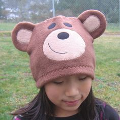 Bear Fleece Hat  Baby Toddler Children Adult by DinkyDimples, $20.00