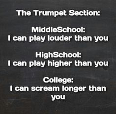 Pretty much...I'm sorry, non-trumpets...really