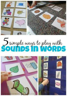 To increase the awareness of the phonics sounds, learn simple and fun sound games kids can play Kindergarten Literacy, Early Literacy, Phonics Activities, Preschool Activities, Reading Skills, Teaching Reading, Learning Letters, Kids Learning, Speech And Language