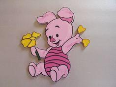 Handpainted Disney Baby Winnie the Pooh Piglet by raquelvigil, $15.95